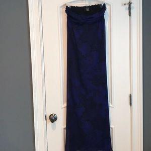 Long purple patterned maxi dress